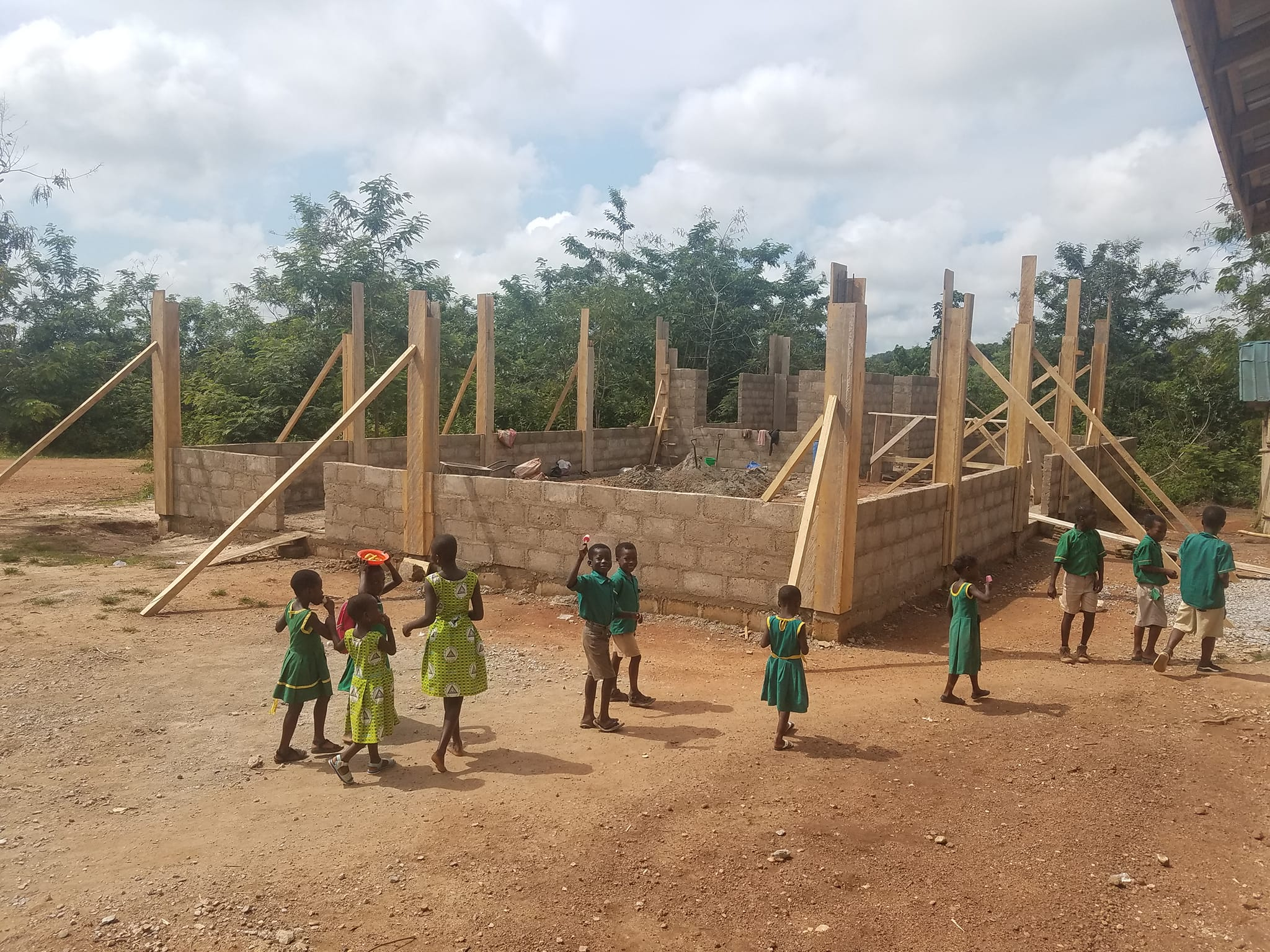 Second Phase of the Construction of the Berasi AME Zion School Cafeteria